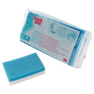 Svamp 3M Scotch Brite Stain Eraser, pakke a 6 stk.