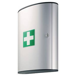 Lékárnička kovová DURABLE, velikost L, stříbrná