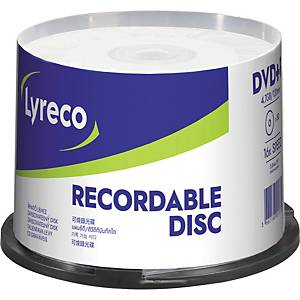 Lyreco DVD+R 4.7GB - pack of 50