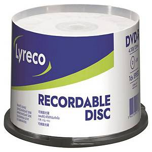 BX50 LYRECO DVD-R 4.7GB SPINDLE