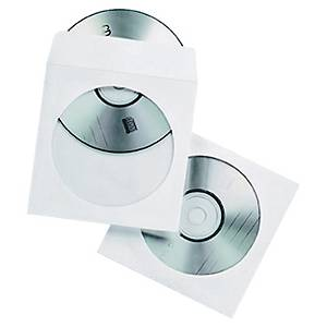 Pack de 50 capas para CD/DVD - papel - com janela