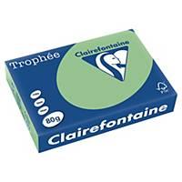 Barevný papír Clairefontaine Trophée, A4, 80 g/m², světle zelený