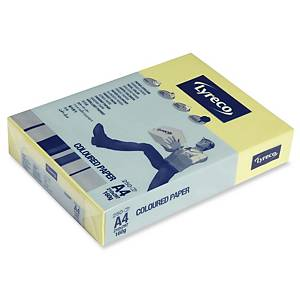 LYRECO CARD A4 160GSM CANARY - PACK OF 250 SHEETS