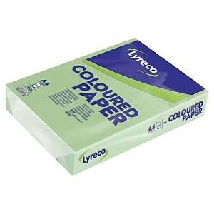 Papír barevný Lyreco A4 160g/m2, pastelový odstín, zelená, 250 listů