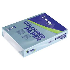Papír barevný Lyreco A4 160g/m2, pastelový odstín, modrá, 250 listů