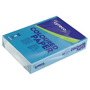 LYRECO INTENSE COLOURED PAPER A4 160G BLUE - REAM OF 250 SHEETS