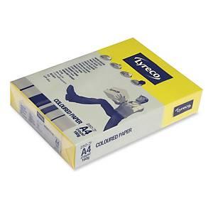 Farebný papier Lyreco, A4 160 g/m² - žltý