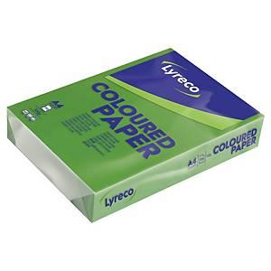 Papír barevný Lyreco A4 160g/m2, intenzivní odstín, zelená, 250 listů