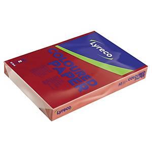 Farvet papir Lyreco, A3, 80g, kirsebærrød, pakke a 500 ark