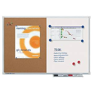 PLANORGA COMBI-BOARD HALF CORK/HALF WHITEBOARD - 600 X 900MM