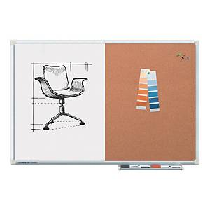 Legamaster Combi-Board Half Cork/Half Whiteboard - 600 X 900mm