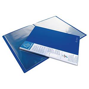 Exacompta Kreacover UpLine Opaque Polypropylene A4 Display Book, 20 Pocket Blue