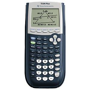 Teknisk regner Texas TI-84 Plus, sort/grå