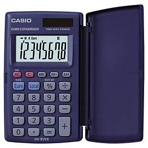 Taschenrechner Casio HS-8VER, 8-stellig, Solar-/Batteriebetrieb
