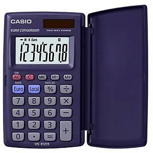 Calculatrice Casio HS-8VER, affichage de 8chiffres, bleu