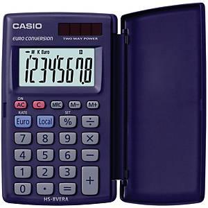 Taschenrechner Casio HS-8VER, 8-stellig, Solar-/Batteriebetrieb, schwarz