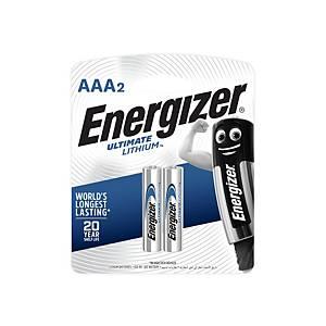 ENERGIZER ถ่านลิเธียม L92 AAA 1.5 โวลต์ แพ็ค 2 ก้อน