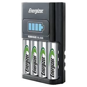 Chargeur de piles Energizer Accu recharge 1 hour + 4 piles AA