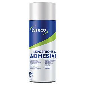 Colle aérosol Lyreco repositionnable, 400 ml