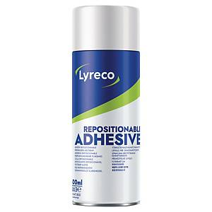 Colle repositionnable Lyreco - aérosol de 400 ml