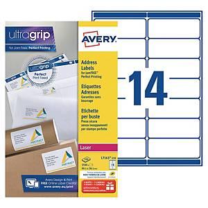 Etiquette adresse Avery - L7163 - 99,1 x 38,1 mm - blanche - par 3500