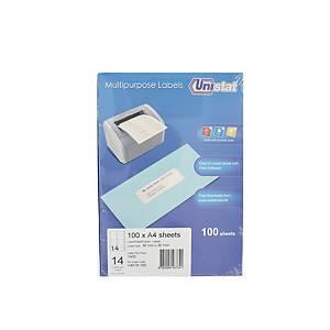 Unistat U4678 Label 99.1 x 38.1mm - Box of 1400 Labels