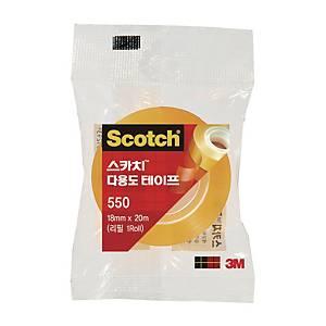 3M 550 SCOTCH CLEAR TAPE 19MMX20M