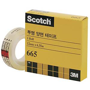 3M 665 DOUBLE SIDED TAPE 12X6.3 W/DISPENSER