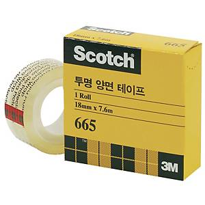 3M 665 DOUBLE SIDED TAPE 18X7.6 W/DISPENSER