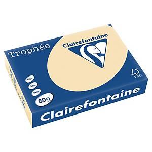 Trophée farebný papier Clairefontaine, A4 80 g/m² - béžový