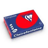 Clairefontaine Trophée 8175 gekleurd A4 papier, 80 g, koraalrood, per 500 vel