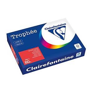 Papier Trophée 8175 A4, 80 g/m2, rouge corail, paq. 500feuilles