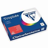 Kopierpapier Trophee 8175, A4, 80g, korallenrot, 500 Blatt