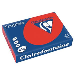 TROPHEE INTENSE COLOURED PAPER A4 80G CORAL RED - REAM OF 500 SHEETS