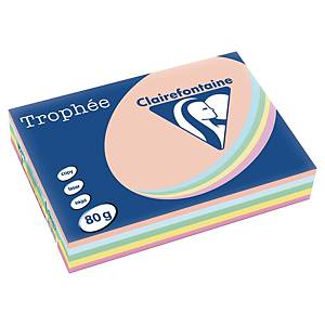 Papír barevný Trophée A4 80g/m2, pastelový  mix, 500 listů