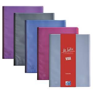 Porte vues Oxford Le Lutin Vision - PVC - 40 pochettes - assortis - par 5