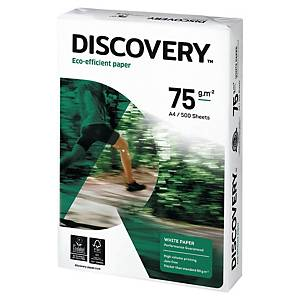 DISCOVERY PAPER A4 75GSM WHITE - BOX OF 5 REAMS (500 SHEETS)