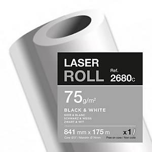Papier traceur Clairefontaine 2680, blanc, 75 g, l 841 mm x L 175 m, le rouleau