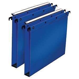 Hængemappe Elba, 3 cm bund, A4, blå, pakke a 10 stk.