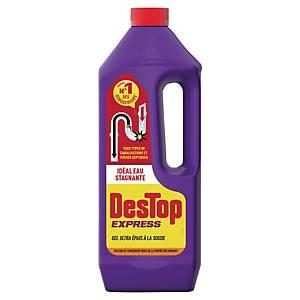 Gel déboucheur Destop Express - spécial eau stagnante - bidon de 1 L