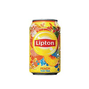 Soda Lipton Ice Tea peach, le paquet de 24 canettes de 33 cl