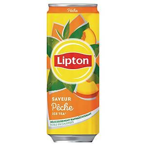 Lipton Ice tea pêche 33 cl - plateau de 24 canettes slim