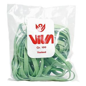 Elastici a fettuccia Viva diametro 120 mm verde - conf. 100 g