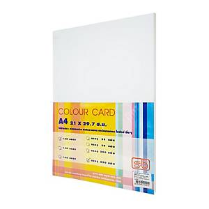 SB กระดาษการ์ดสี A4 120 แกรม ขาว 1 แพ็ค บรรจุ 250แผ่น