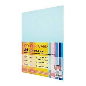 SB กระดาษการ์ดสี A4 120 แกรม ฟ้า 1 แพ็ค บรรจุ 250แผ่น
