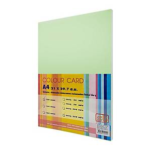SB COLOURED CARDBOARD A4 120G - GREEN - PACK OF 250 SHEETS