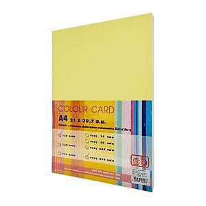 SB กระดาษการ์ดสีA4 120 แกรม เหลือง 1 แพ็ค บรรจุ 250แผ่น