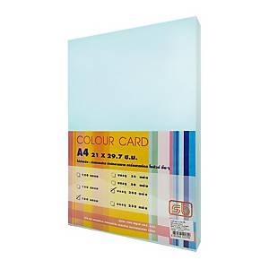 SB กระดาษการ์ดสี A4 180 แกรม ฟ้า 1 แพ็ค บรรจุ 200แผ่น
