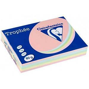 Papier couleur A3 Clairefontaine Trophée - 80 g - assortis - 500 feuilles