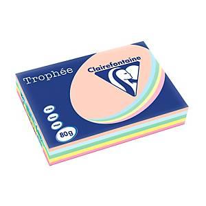 Trophée farebný papier Clairefontaine, A3 80 g/m² - pastelový mix